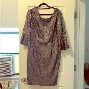 Silver sequenced dress